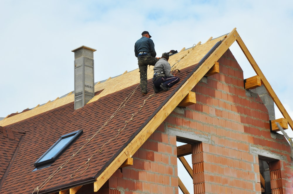 Men working on Pocatello roofing